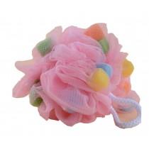 Set Of 2 Bath Ball Shower Ball Mesh Brush Mesh Shower Ball [Pink]