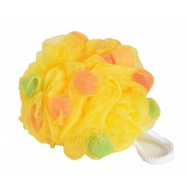 Set Of 2 Bath Ball Shower Ball Mesh Brush Mesh Shower Ball [Yellow]