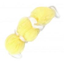 Bath Ball Shower Ball Mesh Brush Mesh Shower Ball Body Cleaning [Yellow]