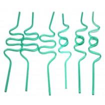 Set Of 12 Bar Supplies Modeling Straw Art straw Drinking Straws Green