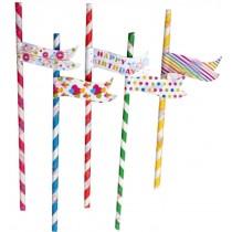 Set Of 25 Bar Supplies Modeling Straw Art straw Drinking Straws Stripe