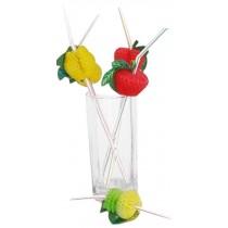 Set Of 100 Bar Supplies Modeling Straw Drinking Straws Fruit Garland
