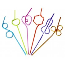 Set Of 20 Bar Supplies Modeling Straw Twisted Shape Straw Candy Colors