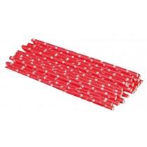 Set Of 25 Fashion Cartoon Crazy DIY Sraw Funny Paper Straws Red
