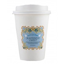 [Sweet] Set of 50 Disposable Coffee Cups Paper Cups With Lids Hot Drink Cup