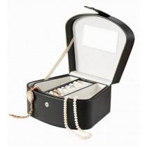 Black Jewelry Box Elegant Jewelry Organizer Portable Ornaments Storage Case
