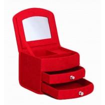 Delicate Jewelry Box Red Jewelry Organizer Portable Ornaments Storage Case