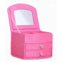 Delicate Jewelry Box Jewelry Organizer Portable Ornaments Storage Case, Pink