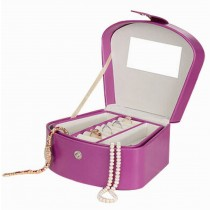 Portable Jewelry Box Delicate Jewelry Organizer Ornaments Storage Case