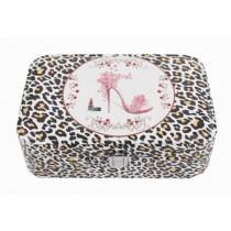 [ Leopard Print ] Jewelry Box Jewelry Organizer Portable Ornaments Storage Case