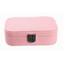 Exquisite Jewelry Box Jewelry Organizer Portable Ornaments Storage Case, Pink