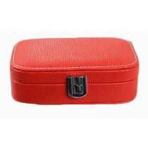 Exquisite Jewelry Box Jewelry Organizer Portable Ornaments Storage Case, Red