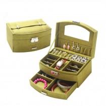 Sweet Elegant Jewelry Box Portable Ornaments Storage Case, Green