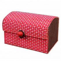 Set of 4 Vintage Novelty Decoration Box Jewelry Soapbox Storage Box Red
