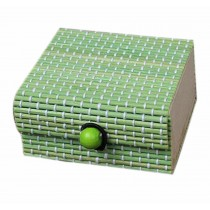 Set of 4 Vintage Novelty Decoration Box Jewelry Soapbox Storage Box Square Green