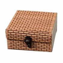 Set of 4 Vintage Novelty Box Jewelry Soapbox Storage Box Square Coffee