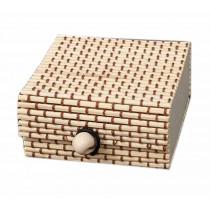 Set of 4 Vintage Novelty Box Jewelry Soapbox Storage Box Square Beige