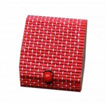 Set of 4 Vintage Novelty Box Jewelry Soapbox Storage Box Heart Red