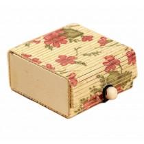 Set of 4 Vintage Novelty Box Jewelry Soapbox Storage Box Flower