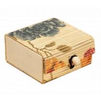 Set of 4 Vintage Novelty Box Jewelry Soapbox Storage Box Peony