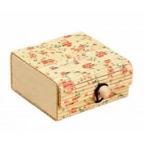 Set of 4 Vintage Novelty Box Jewelry Soapbox Storage Box Flower Multicolor