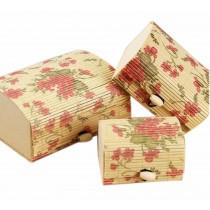 Set of 3 Vintage Novelty Box Jewelry Soapbox Storage Box Flower
