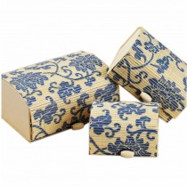 Set of 3 Vintage Novelty Box Jewelry Soapbox Storage Box Blue