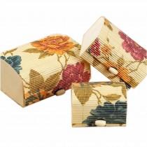Set of 3 Vintage Novelty Box Jewelry Soapbox Storage Box Peony