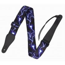 Practical Guitar Equipment Guitar Strap Shoulder Strap [Blue Lightning]
