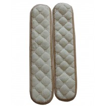 [Beige] Soft Flannel Chair Armrest Covers Armrest Pads Chair Arm Covers