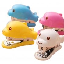 Set Of 2 Cute Dolphin Mini Portable Desktop Stapler Office Stapler Random Color