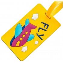 Cartoon Creative Travel Luggage Tag Cardboard Tags Yellow