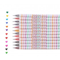 12pcs Creative Color Gel Ink Pens Marker Pen Highlighters Rainbow