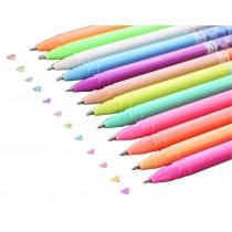 12pcs Pretty Color Gel Ink Pens Marker Pen Highlighters