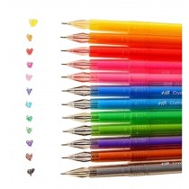 12pcs Creative Pretty Color Gel Ink Pens Marker Pen Highlighters