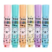 Set Of 6 Highlighter Color Marking Crayons Dauber Gel Pens Random Color