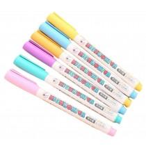 Set Of 8 Lovely Highlighter Color Marking Crayons Dauber Random Color