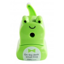 Cute Cartoon Manual Pencil Sharpener School Office Supplies Frog Shaped GREEN