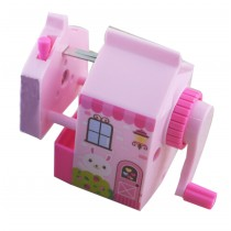 Cute Cartoon Manual Pencil Sharpener Desktop Pencil Sharpener Stationery PINK