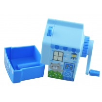 Cute Cartoon Manual Pencil Sharpener Desktop Pencil Sharpener Stationery BLUE