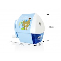 Cute Cartoon Manual Pencil Sharpener School Office Supplies, Cabin Design, BLUE