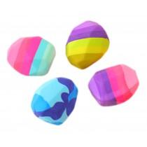4 pcs Creative Colorful Stone Eraser for School/Office Supply, Random Color