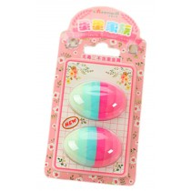 Set of 2 Cute Functional Colorful Egg Eraser for School/Office Supply/Gift A