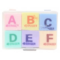 Set Of 2 Creative English Letters Eraser Cute Eraser Packed