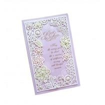 Set of 5 Lovely Creative Greeting Card Elegant Festival Card With Envelope Purpl