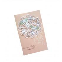 Set of 5 Lovely Creative Greeting Card Elegant Festival Card With Envelope Pink