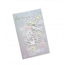 Set of 5 Lovely Creative Greeting Card Elegant Festival Card With Envelope Grey