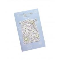 Set of 5 Lovely Creative Greeting Card Elegant Festival Card With Envelope Blue