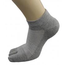 Womens Sport Mesh Design Five Fingers Socks 1 Pairs Gray