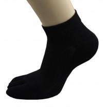 Womens Sport Mesh Design Five Fingers Black Socks 1 Pairs